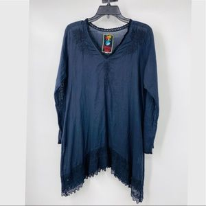 Johnny Was embroidered cotton tunic